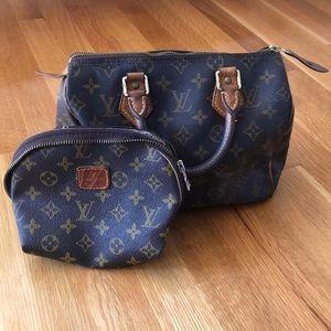 Louis Vuitton SPEEDY 30 & matching coin purse